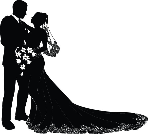 600x542 Bride And Groom Vector Free Vector 4vector
