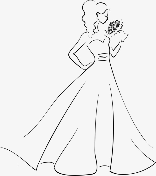 650x734 Good Wear Wedding Bride Vector, Vector, Wedding Dress, Wedding