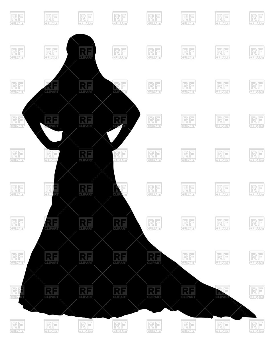933x1200 Silhouette Of Bride Vector Image Vector Artwork Of People