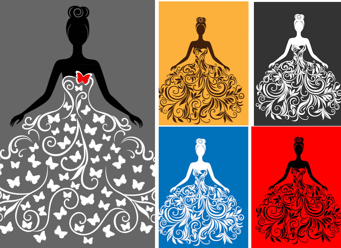 1100x800 Silhouette Of Bride Vector Free Vectors Amp Images In Eps And Ai