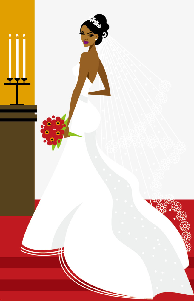 650x1006 Wedding Bride Vector Illustration, Wedding Vector, Wedding, Vector