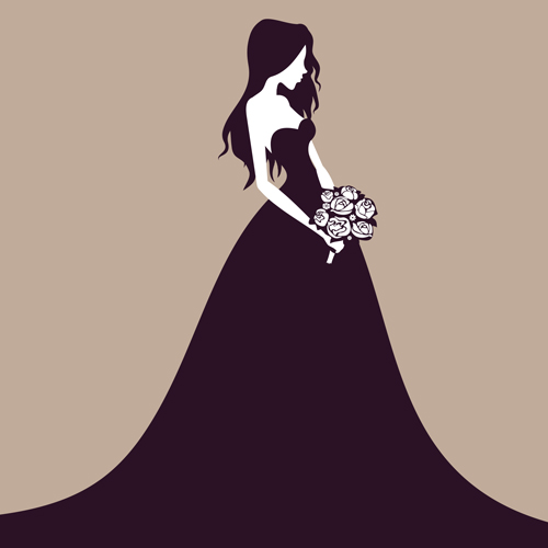 500x500 Beautiful Bride Vector Material 02 Free Download