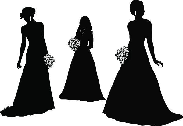600x415 Bride And Groom Vector Free Vector 4vector