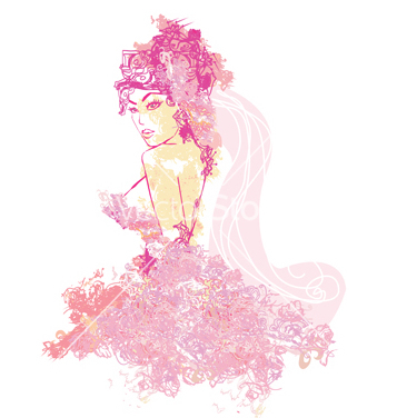357x376 Free Beautiful Abstract Bride Vector Free Vector Download 266733