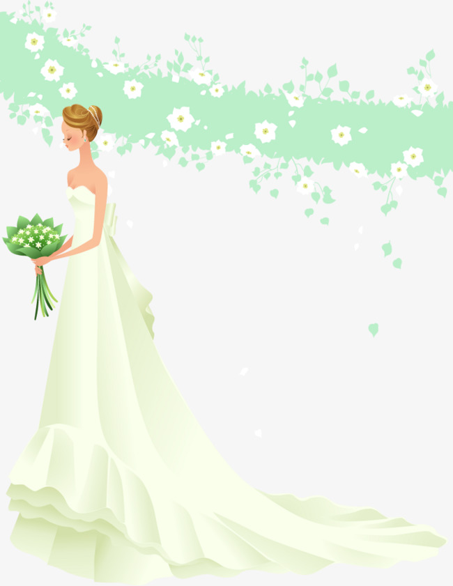 650x841 Sideways Wedding Bride Vector Material, Wedding Clipart, Wedding