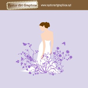 300x300 Wedding Dress Bride Vector
