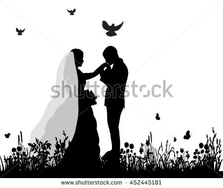 450x380 Wedding Silhouette Free Vector Bride Vector Download Free Vector