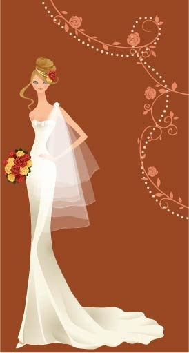 274x511 Free Vector 40 Zhang Meili Wedding Bride Vector Troue