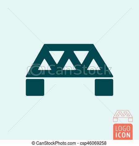 450x470 Bridge Icon Isolated. Bridge Icon. Engineering Construction Symbol
