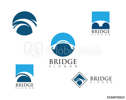 500x400 Bridge Icon Vector Illustration Logo