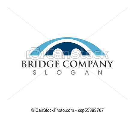 450x379 Bridge Icon Vector Illustration Logo Template Design.