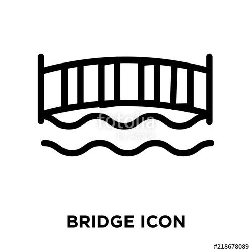 500x500 Bridge Icon Vector Isolated On White Background, Bridge Sign