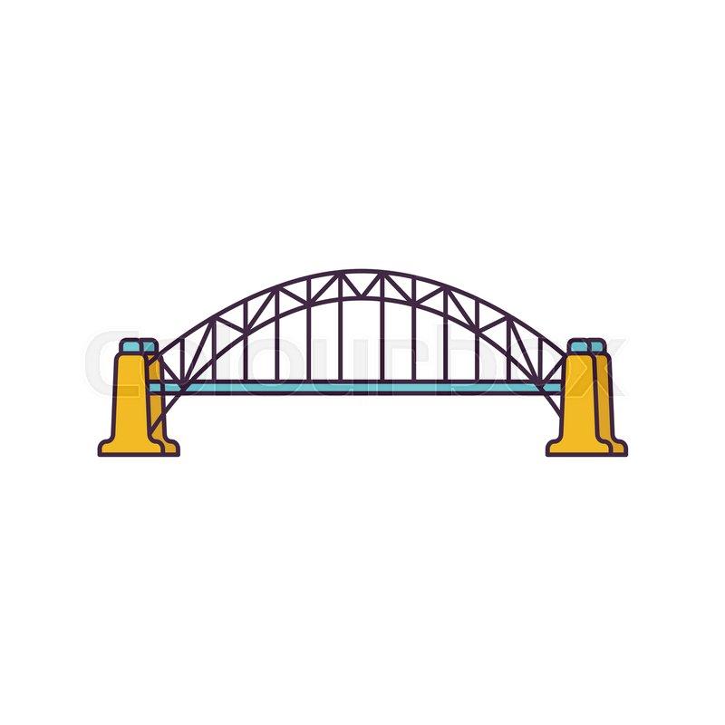 800x800 Bridge Icon. Cartoon Bridge Vector Icon For Web Design Isolated On