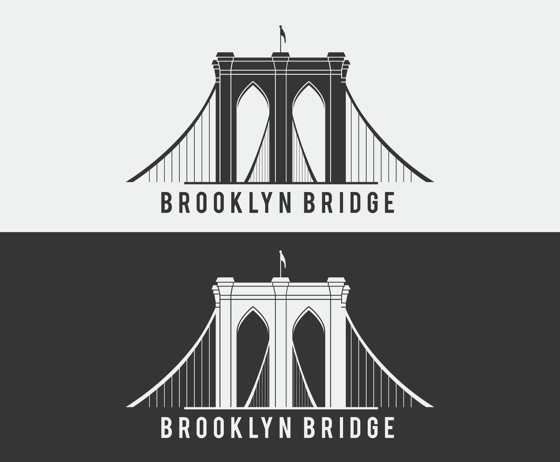 1136x936 Brooklyn Bridge Vector Icon Vector Art Amp Graphics