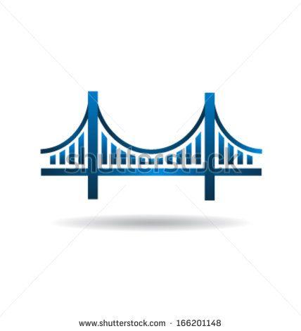 428x470 Blue Bridge Icon Logo Vector Graphics Vector