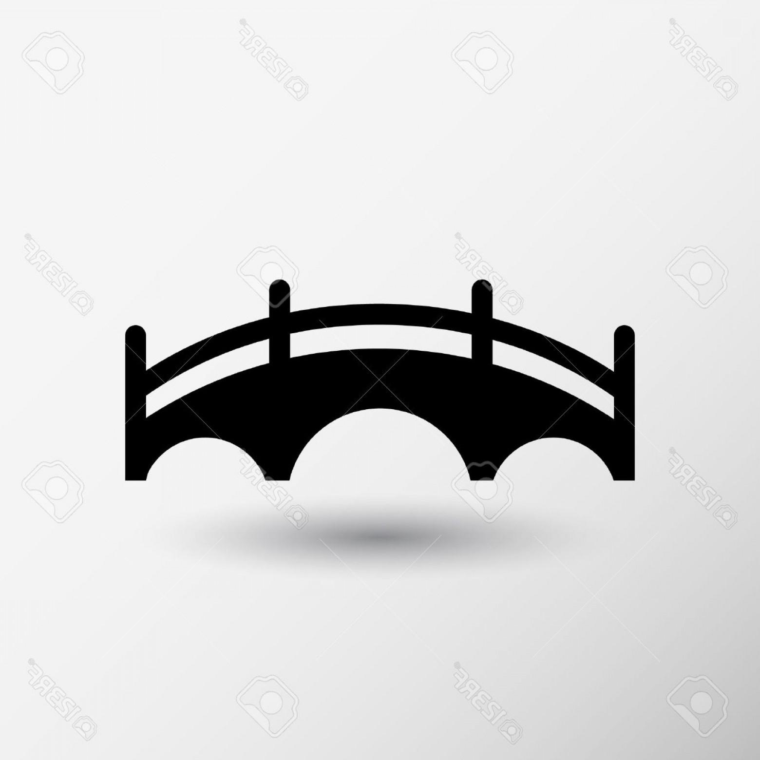 1560x1560 Photostock Vector Bridge Icon Vector Button Logo Symbol Concept