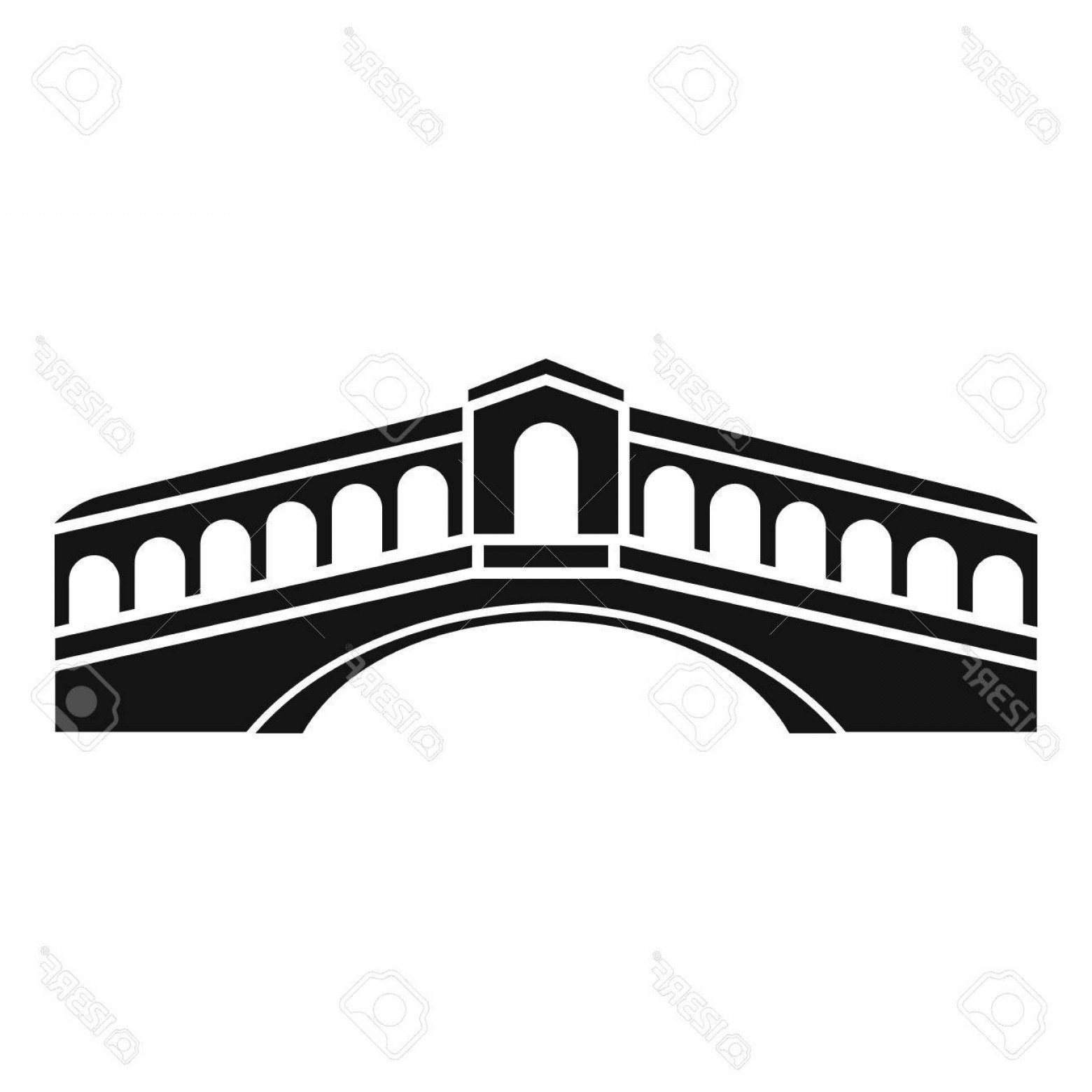 1560x1560 Photostock Vector Venice Bridge Icon Simple Illustration Of Bridge