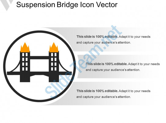 543x403 Suspension Bridge Icon Vector Powerpoint Presentation Sample