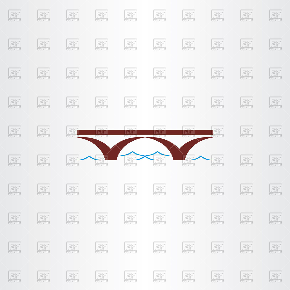 1200x1200 Bridge And River Wave Icon Vector Image Vector Artwork Of Icons