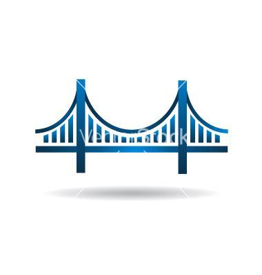 380x400 Bridge Blue Icon Logo Vector Vectorstock Graphics