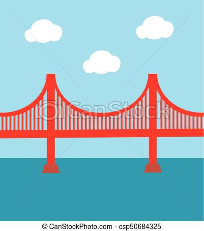415x470 Golden Gate Bridge. Vector Golden Gate Bridge.