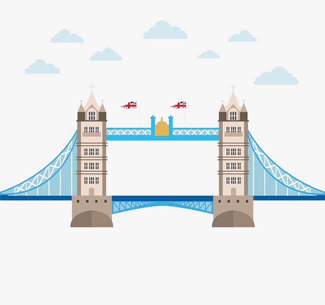650x609 London Bridge Bridge Cartoon Clouds Creative, London Vector
