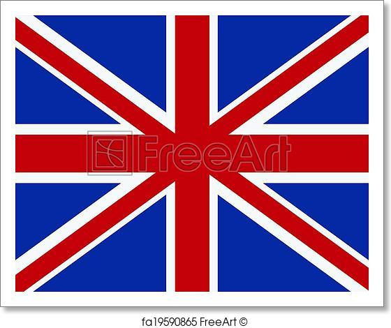 560x470 Free Art Print Of Vector British Flag. Vector British Flag. Size