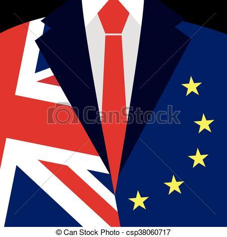 450x470 Brexit Concept. British Flag, Eu Flag. Eu Referendum. Symbol Of