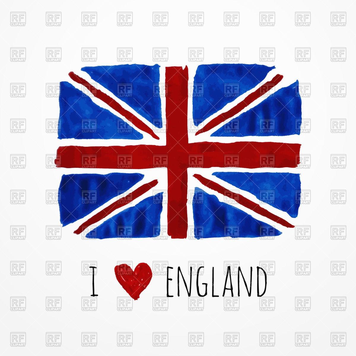 1200x1200 British Flag Banner Fresh Hand Drawn Watercolor England Flag