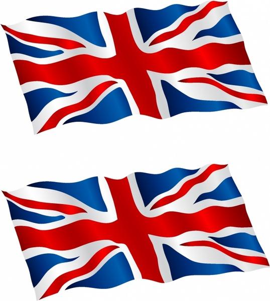 538x600 British Flag Flying In The Wind Free Vector In Adobe Illustrator