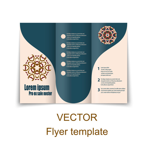500x500 Fold Flyer With Brochure Vector Template Set 18 Free Download