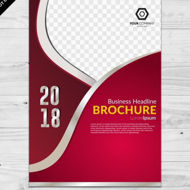 640x640 Dark Red Business Brochure Vector Template Template For Free
