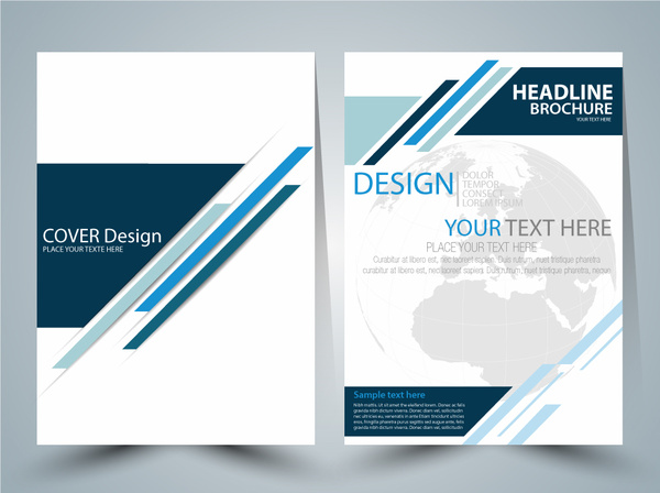 600x448 Brochure Vector Design With Globe Vignette Free Vector In Adobe