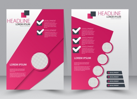 468x338 Brochure Vector Illustration With Modern Circles Checklist Style