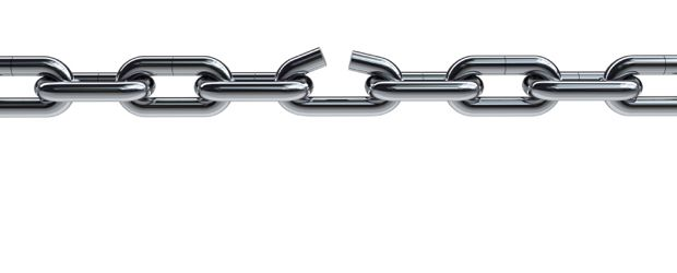 Broken Chain Vector