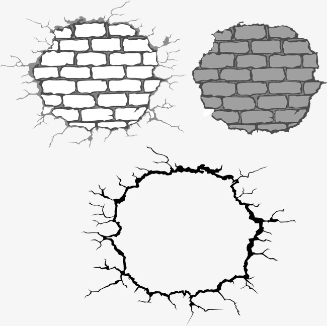 650x648 Vector Broken Glass Wall, Glass, Wall, Cartoon Wall Png And Vector