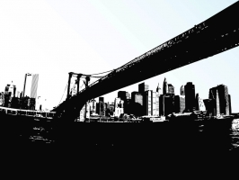 266x200 Brooklyn Bridge Free Vector Graphic Art Free Download (Found 209