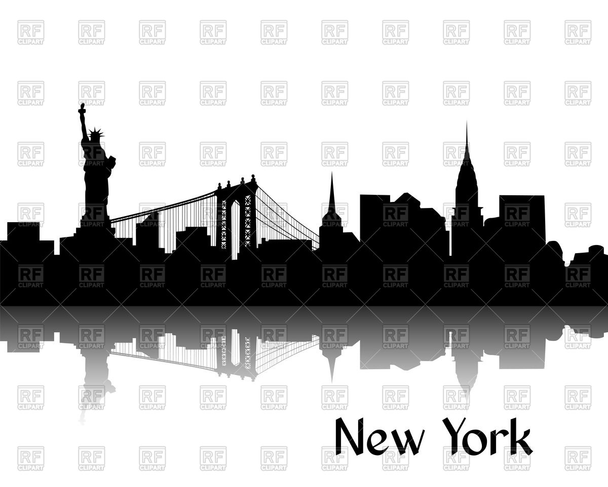 1200x960 Silhouette Of Cityscape Of New York