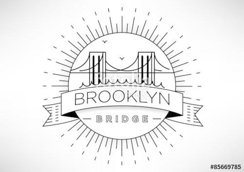 500x354 Brooklyn Bridge Vector Icon Design Stock Image And Royalty Free