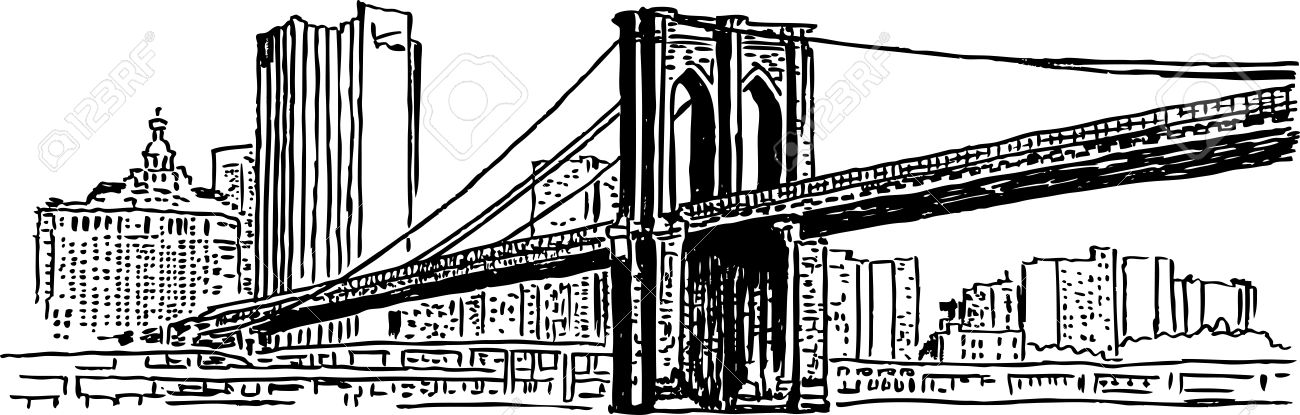 1300x415 Bridge Clipart Brooklyn Bridge