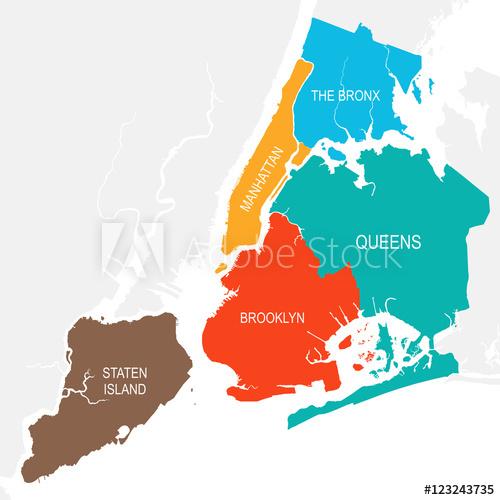 500x500 New York City Map