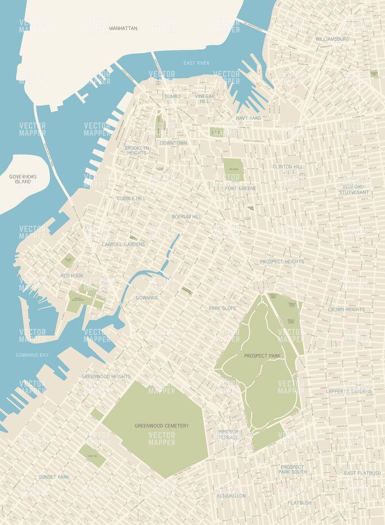 751x1024 Brooklyn Vector Map Megan And Stuff.... City