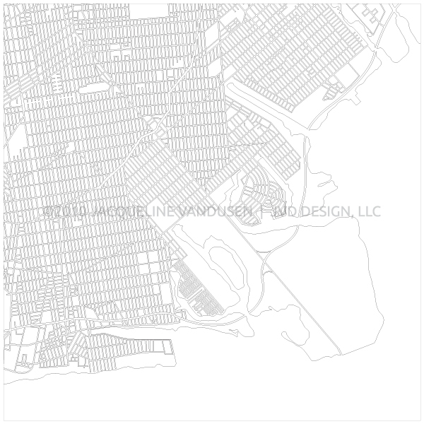 600x600 Brooklyn Vector Map On Behance