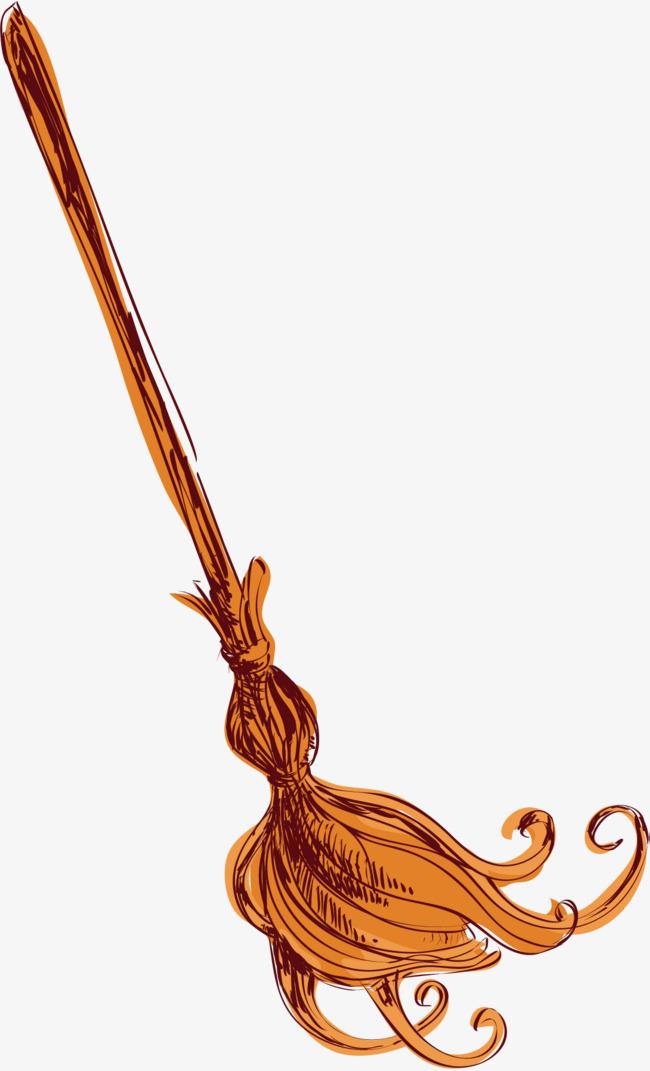 650x1071 Magical Magical Broom, Vector Material, Magic, Magic Broom Png And
