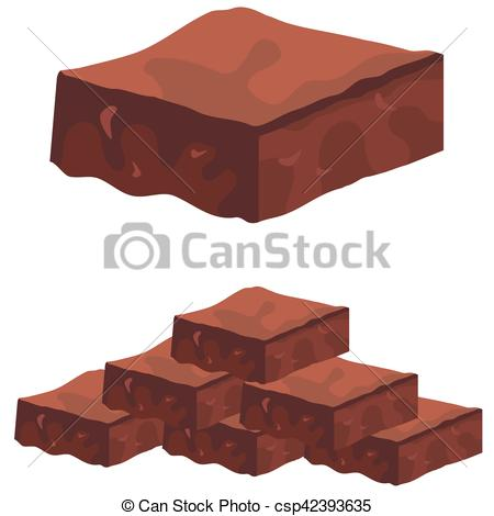 450x470 Brownie Clipart Vector