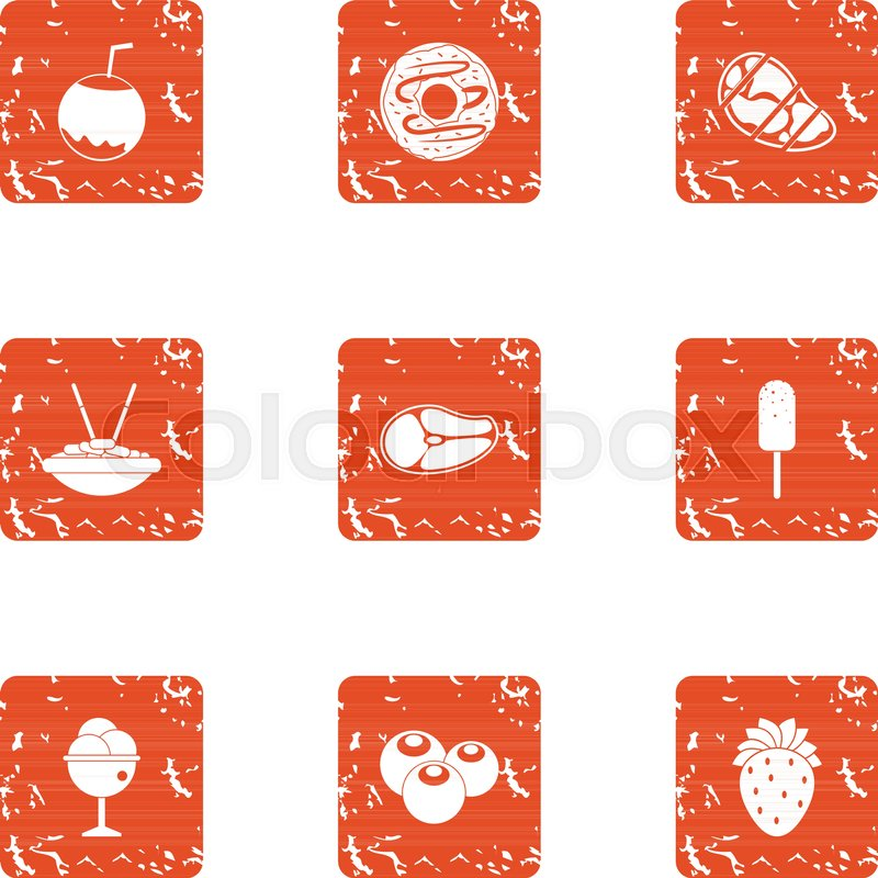 800x800 Brownie Icons Set. Grunge Set Of 9 Brownie Vector Icons For Web