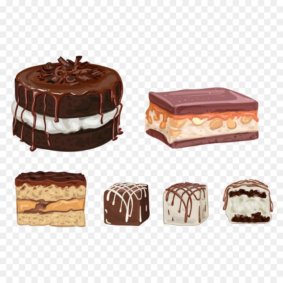 900x900 Download Chocolate Truffle Chocolate Cake Chocolate Brownie Vector