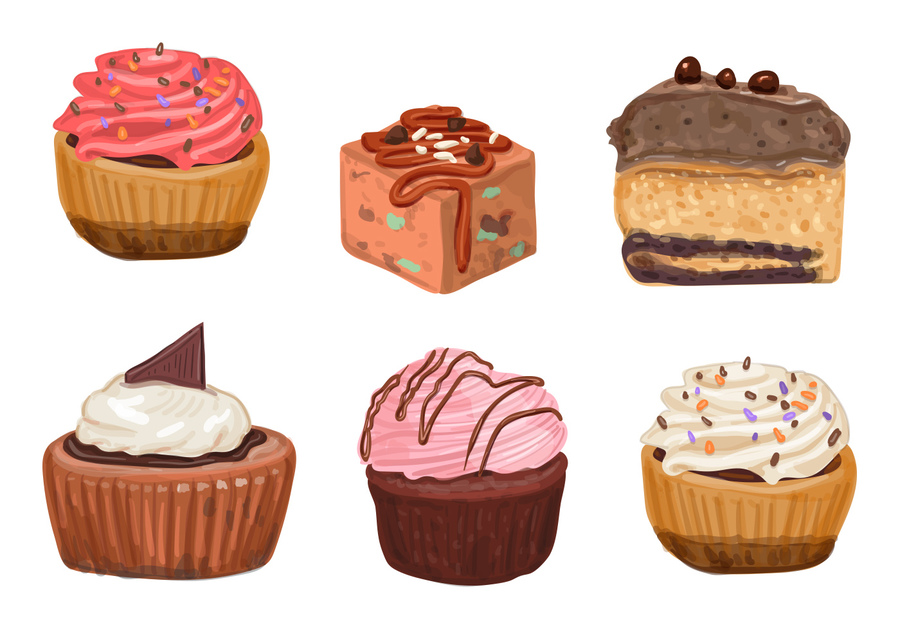 900x630 Download Cocoa Cake Vector Clipart Cupcake Chocolate Brownie