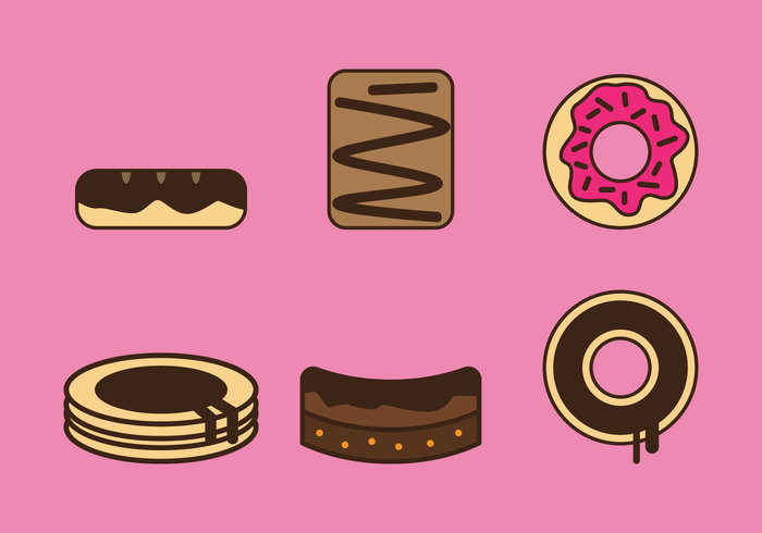 700x490 Free Brownie Vector Icons