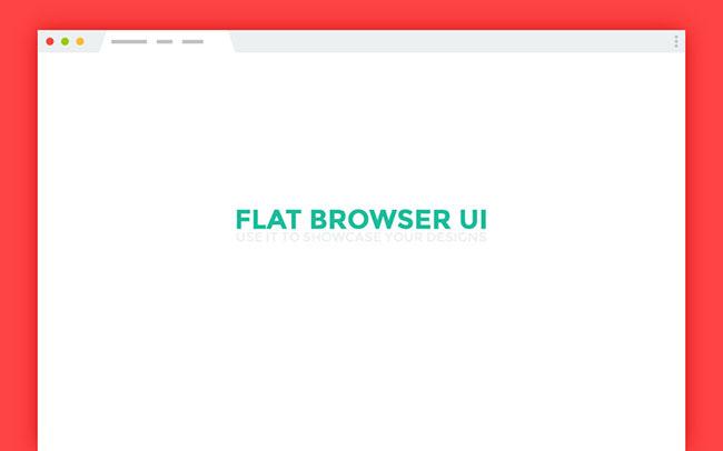 650x406 Flat Browser Ui Freebie